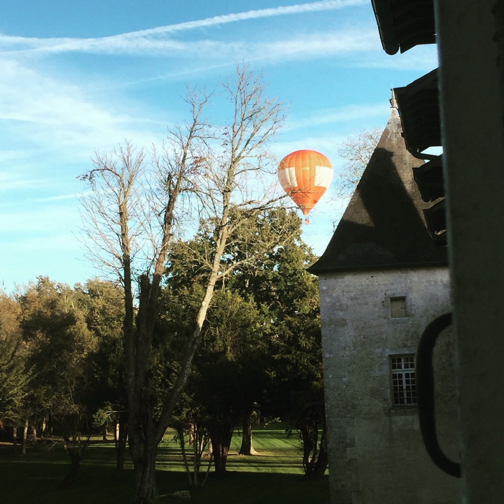 Watching fly over the Château.